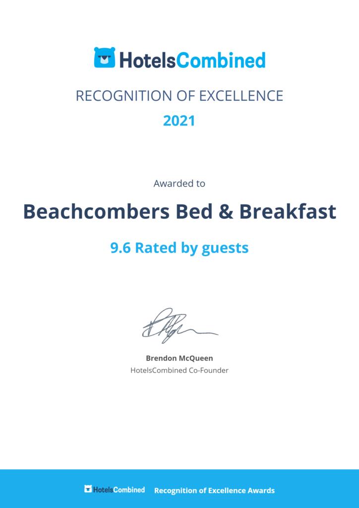 Beachcombers_Bed_Breakfast_Certificate